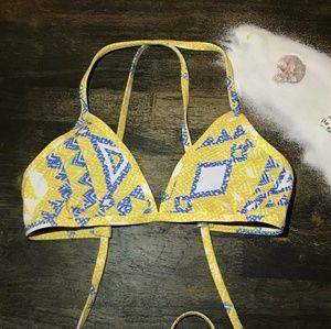 Printed jolyn triangle bikini top switz